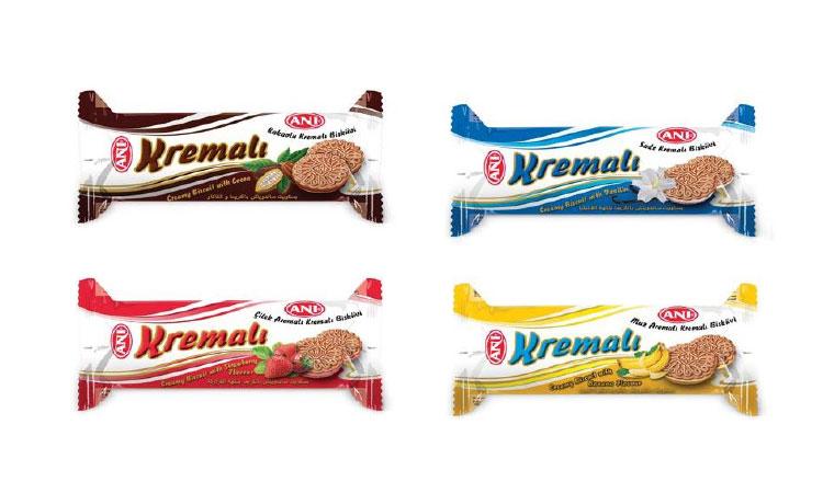Anı Kremalı Bisküvi Fındıklı, Çilekli, Muzlu, Sade