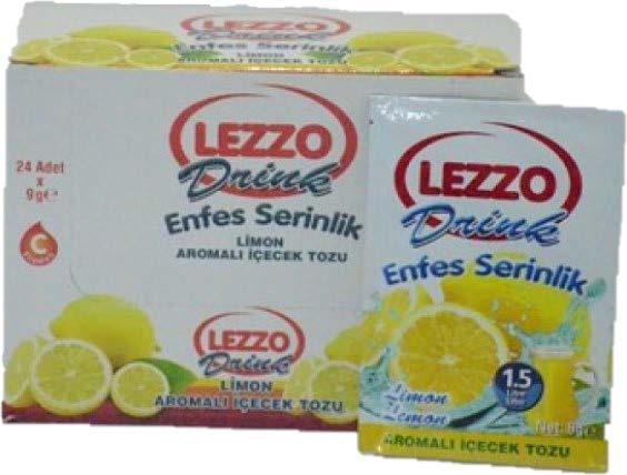 LEZZO Toz içecek Limon, Portakal, Vişne, Şeftali