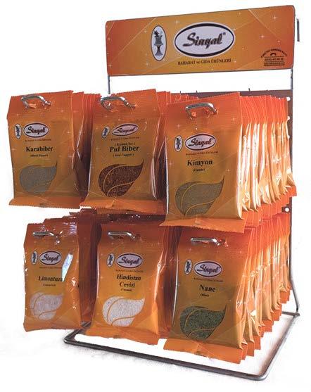 SİNYAL BAHARAT Çörek Otu - Damla Sakızı - Kartela - Hindistan Cevizi - Karabiber - Karanfil - Kekik - Kuş Üzümü - Kimyon - Limon Tuzu - Nane - Pasta Süsü - Pul Biber - Sumak - Susam - Tarçın - Toz Biber Acılı -Toz Biber Tatlı