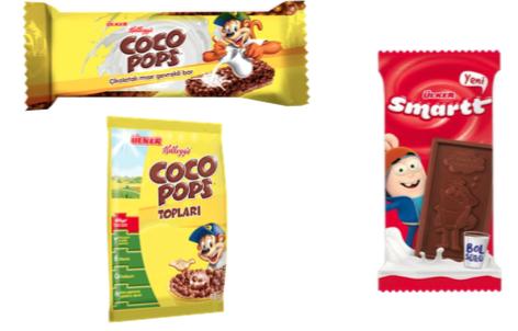 ÜLKER Coco Pops Bar, Kahvaltılık Top ÜLKER Smartt Konuşan Çikolata