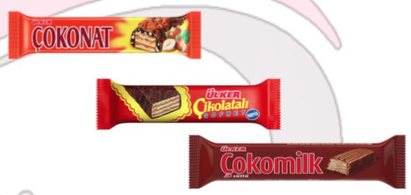ÜLKER Çokonat, Çikolatalı Gofret, Çokomilk